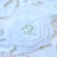 "4 Pack 16"" Large White Real Touch Artificial Foam Craft Roses"