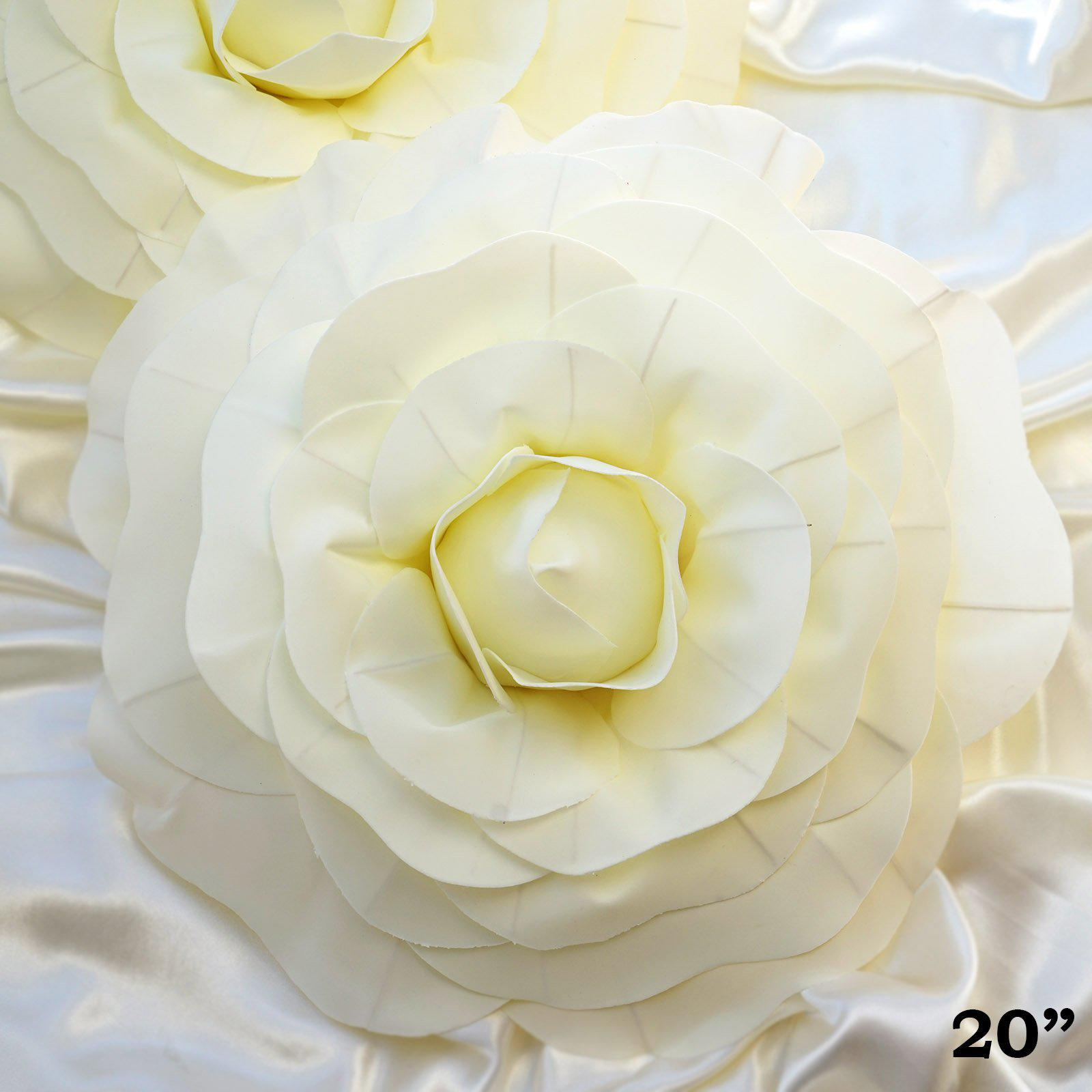 Old Fashioned Soft White Foam Flower Wall Decor Image - The Wall Art ...