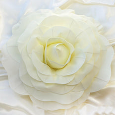 "2 Pack 20"" Large Ivory Real Touch Artificial Foam Craft Roses"