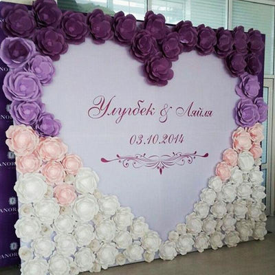 "2 Pack 20"" Large Lavender Real Touch Artificial Foam Craft Roses"