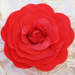 "2 Pack 20"" Large Red Real Touch Artificial Foam Craft Roses"