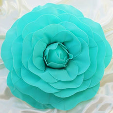 "2 Pack 20"" Large Turquoise Real Touch Artificial Foam Craft Roses"
