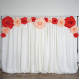 "2 Pack 24"" Large  Real Touch Artificial Foam Backdrop Craft Roses- Rose Gold 
