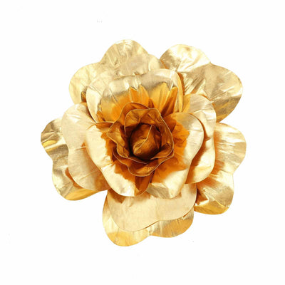 "2 Pack 24"" Large Gold Real Touch Artificial Foam Craft Roses"