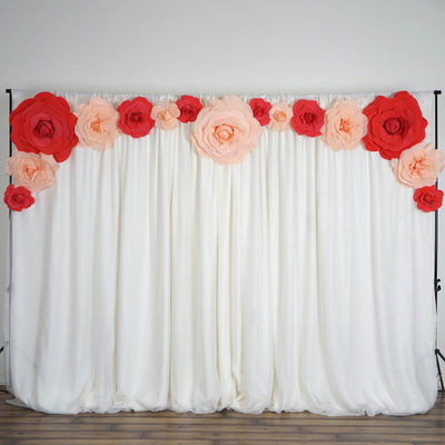 "2 Pack 24"" Large Red Real Touch Artificial  Foam Backdrop Craft Roses"