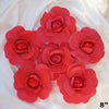 "6 Pack 8"" Large Red Real Touch Artificial Foam Craft Roses"