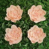 "4 Pack 12"" Real Feel Foam Daisy Flowers - Rose Gold 