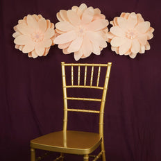 "2 Pack 20"" Real Feel Foam Dahlia Flowers - Rose Gold 