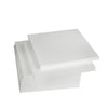"12 Pack | 12"" White Styrofoam Foam Square Flat"