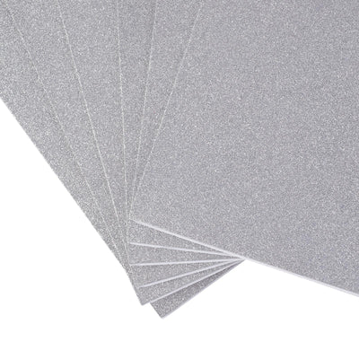 "10 Pack | 12""x10"" Self-Adhesive Glitter DIY Craft Foam Sheets 