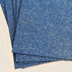 "10 Pack 12"" Blue Ultra-Glitter Foam Single Color DIY Art Craft Sheets Fofuchas"