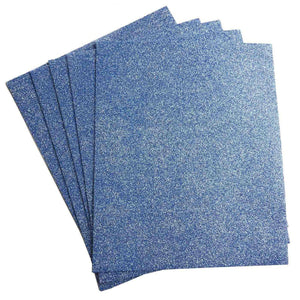 "10 PCS Wholesale Glittered Metallic Foam Craft Art Sheets Fofuchas - Blue - 9.5""x12"""