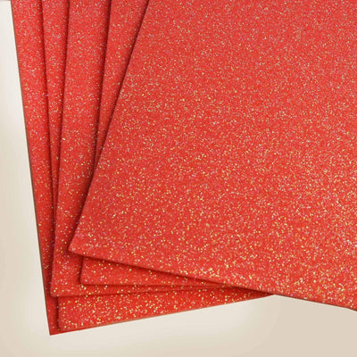"10 Pack 12"" Coral Ultra-Glitter Foam Single Color DIY Art Craft Sheets Fofuchas"