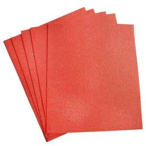 "10 PCS Wholesale Glittered Metallic Foam Craft Art Sheets Fofuchas - Coral - 9.5""x12"""