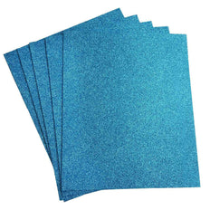 "10 PCS Wholesale Glittered Metallic Foam Craft Art Sheets Fofuchas - Turquoise - 9.5""x12"""