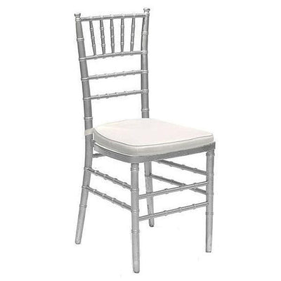 Set of 2 | Silver Beechwood Chiavari Chairs