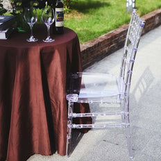 Resin Clear Chiavari Chair, Armless Stackable Chairs