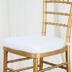 "WHITE Chiavari Chair Cushion for Wood Resin Chiavari Chairs Party Event Decoration - 2"" Thick"
