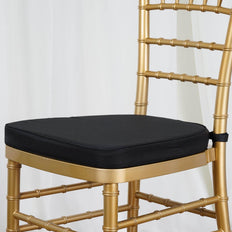 "BLACK Chiavari Chair Cushion for Wood Resin Chiavari Chairs Party Event Decoration - 2"" Thick"