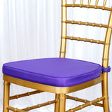"PURPLE Chiavari Chair Cushion for Wood Resin Chiavari Chairs Party Event Decoration - 2"" Thick"