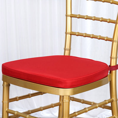 "RED Chiavari Chair Cushion for Wood Resin Chiavari Chairs Party Event Decoration - 2"" Thick"