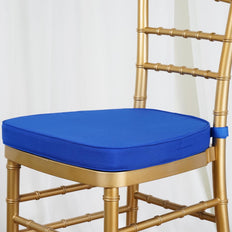 "ROYAL BLUE Chiavari Chair Cushion for Wood Resin Chiavari Chairs Party Event Decoration - 2"" Thick"