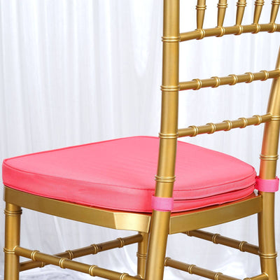 "2"" Thick Coral Chiavari Cushion for Beechwood Chairs"