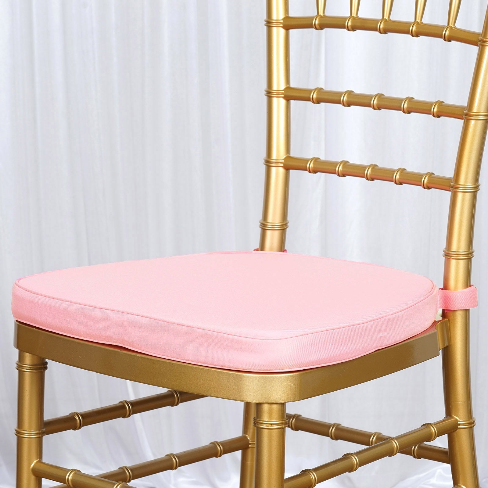 Chair Pad Seat Padded Blush Rose Gold Sponge Cushion With Poly