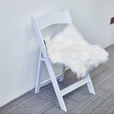 20inch x 20inch White Faux Sheepskin Chair Pads, Soft Faux Fur Rug Seat Cushions
