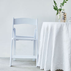 White Folding Chair, Resin Folding Chair, Outdoor Folding Chairs, Wedding Chair | TableclothsFactory