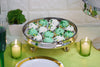 "Champagne Glass Pedestal Plate with Dome Ombre Glass Cake Stand 8x16"" Tall"