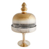 "19"" Chrome Gold Cake Dome 
