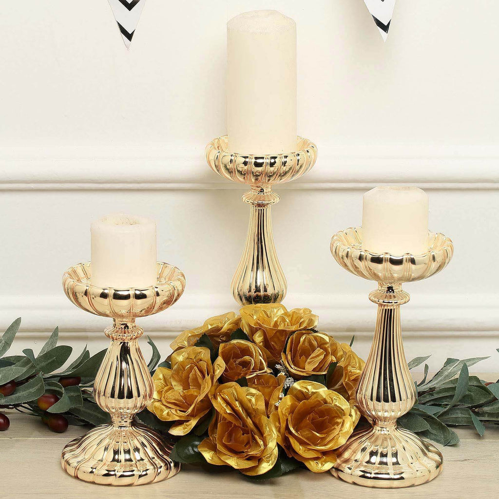 Pillar Candle Holders Candlestick Table Centerpieces Tableclothsfactory
