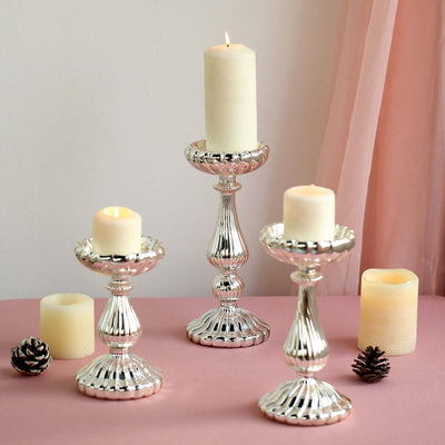 Pillar Candle Holders, Candlestick, Table Centerpieces