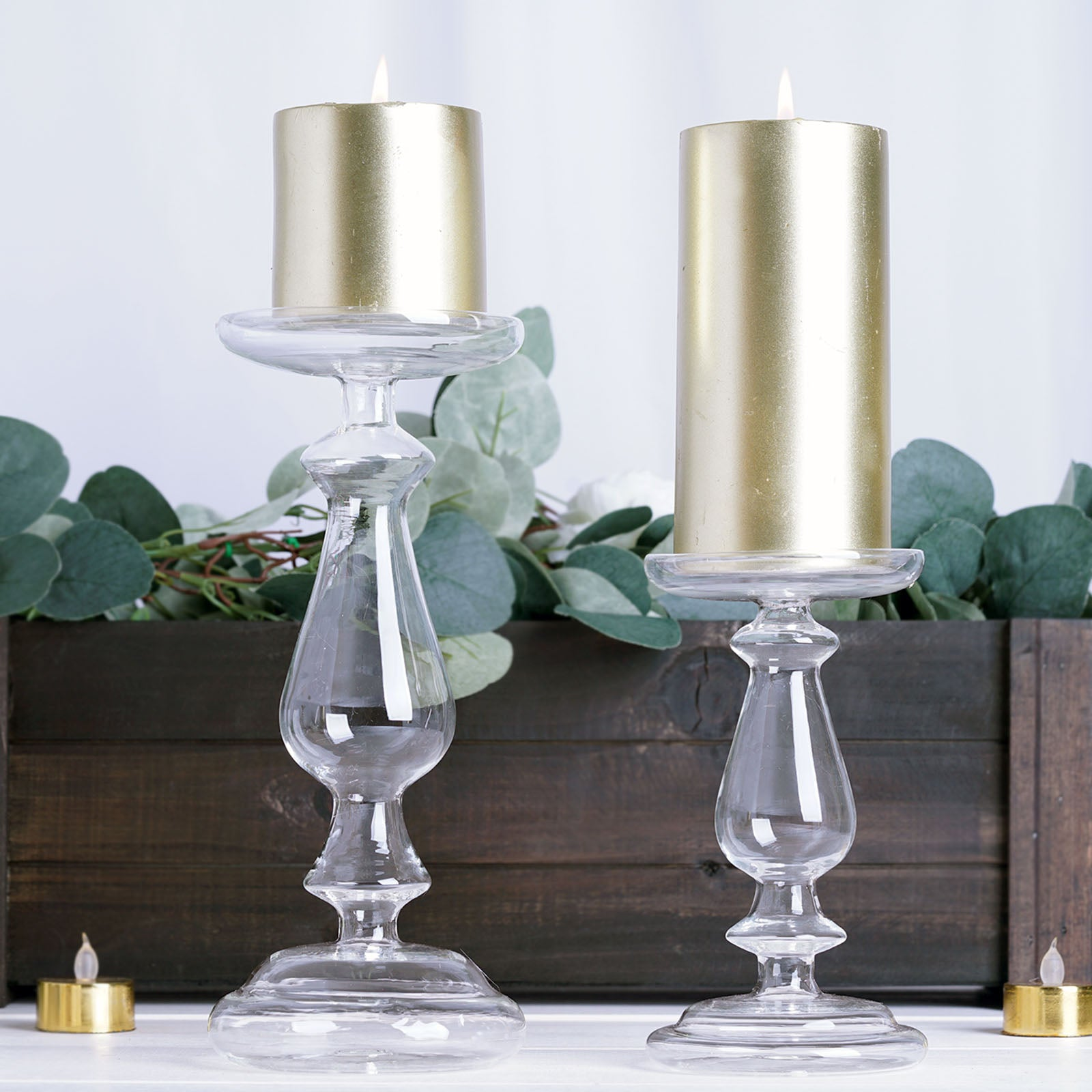 Mercury Glass Candle Holders Pillar Candle Holders Candlestick Tableclothsfactory