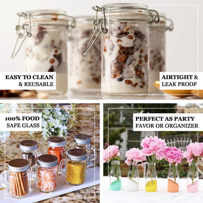 12 Pack 4 Oz Clear Square Glass Jars - Clearance SALE