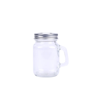 12 Pack 4 Oz Clear Rustic Bridal Wedding Mason Jars with Handles