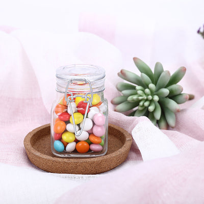12 Pack Clear Square Glass Jars