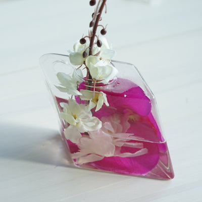 3 Pack | Rhombus Glass Wall Vase | Hanging Glass Terrarium | Indoor Wall Planters