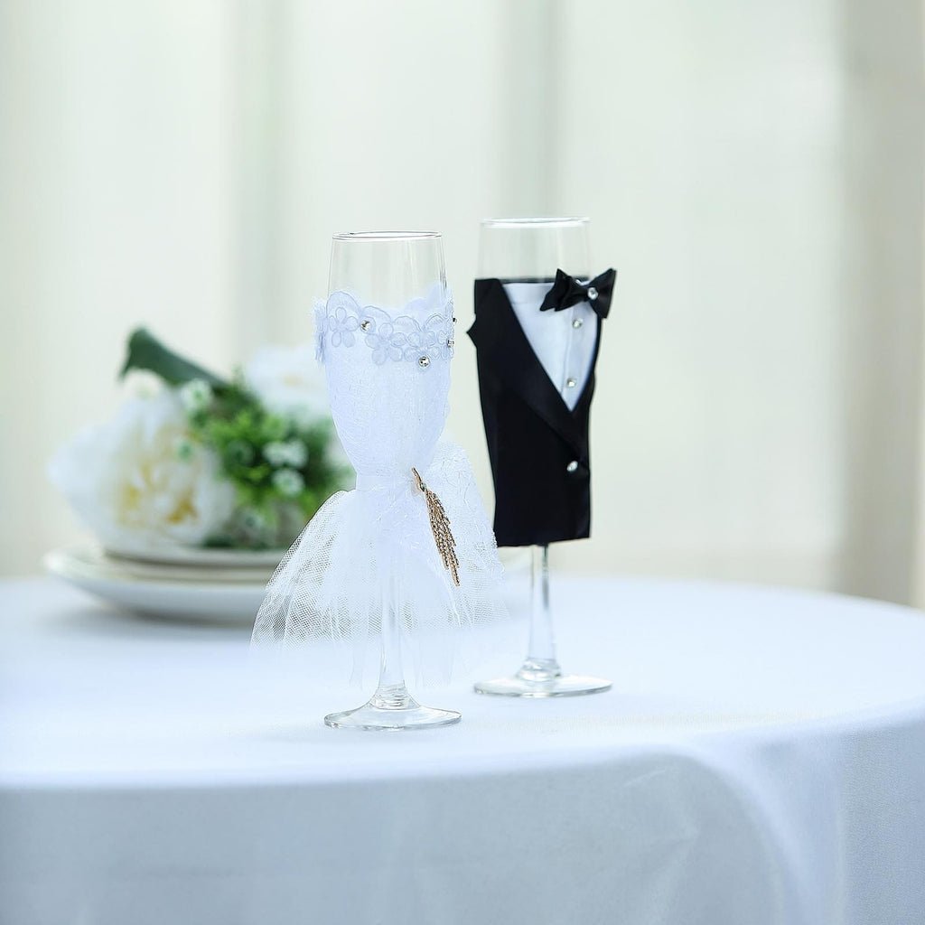Wedding Champagne Flutes Wedding Toasting Glasses Tableclothsfactory