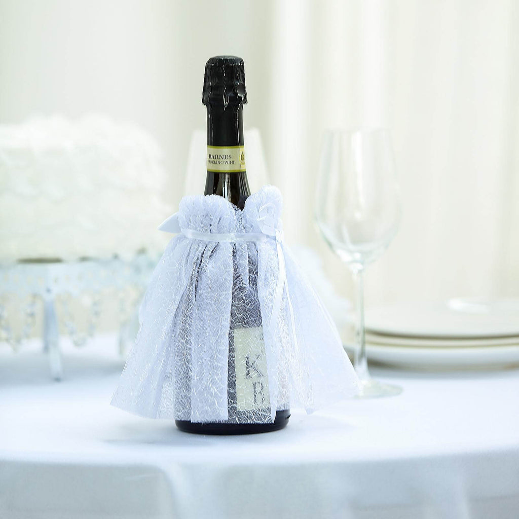 Wine Bottle Covers | Wedding Dress Wine Koozie | TableclothsFactory