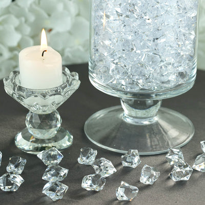300 Pack Clear Acrylic Ice Table Vase Decoration