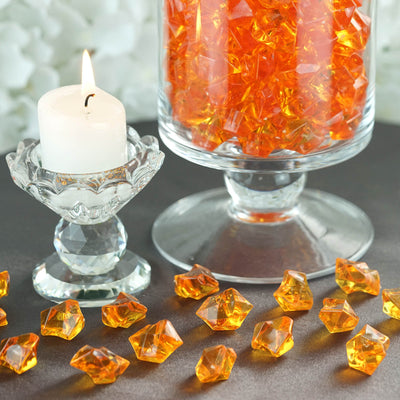 300 Pack Orange Large Acrylic Ice Bead Vase Fillers Table Decoration
