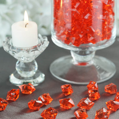 300 Pack Red Large Acrylic Ice Bead Vase Fillers Table Decoration