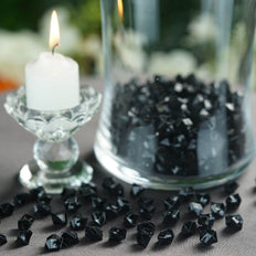 400 Pcs | Black Mini Acrylic Crystals | Vase Filler Crystals | Table Scatters