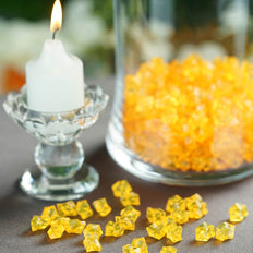 400 Pcs | Gold Mini Acrylic Crystals | Vase Filler Crystals | Table Scatters