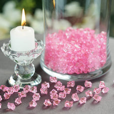 400 Pcs | Pink Mini Acrylic Crystals | Vase Filler Crystals | Table Scatters