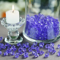 400 Pcs | Purple Mini Acrylic Crystals | Vase Filler Crystals | Table Scatters