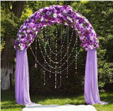 "Decorative Metal Arch For Wedding Party Event Photography - White - 55"" Wide and 90"" Height"