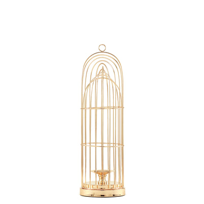 "21"" Gold Metal Cage Pillar Candle Holder Wedding Centerpiece"
